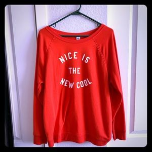 Nice is the new cool graphic sweater